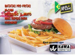Batata Congelada pré-frita Empresa: Sawa Alimentos