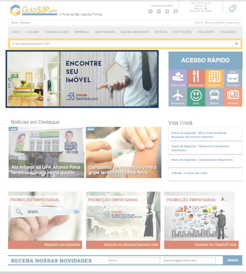 Banner Superior na Inicial no Topo do GuiaSJP    GUIASJP - Um serviço POW Internet