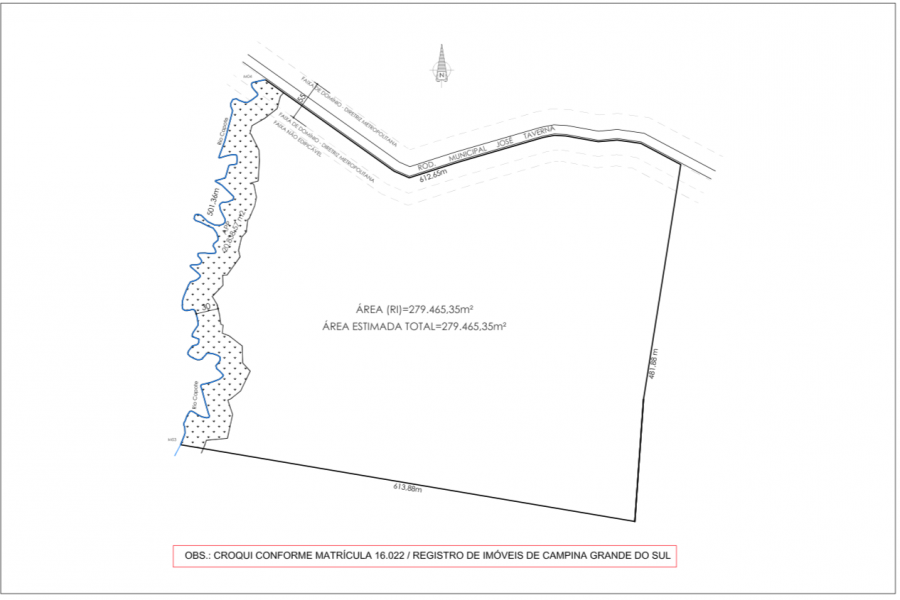 Área residencial,  serviço e condomínio empresarial